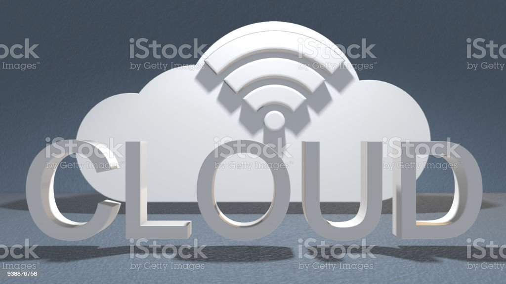 Safe wireless dig data cloud computing network connectivity online storage techn stock photo