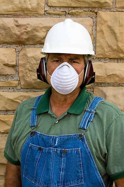 safe worker stock photo
