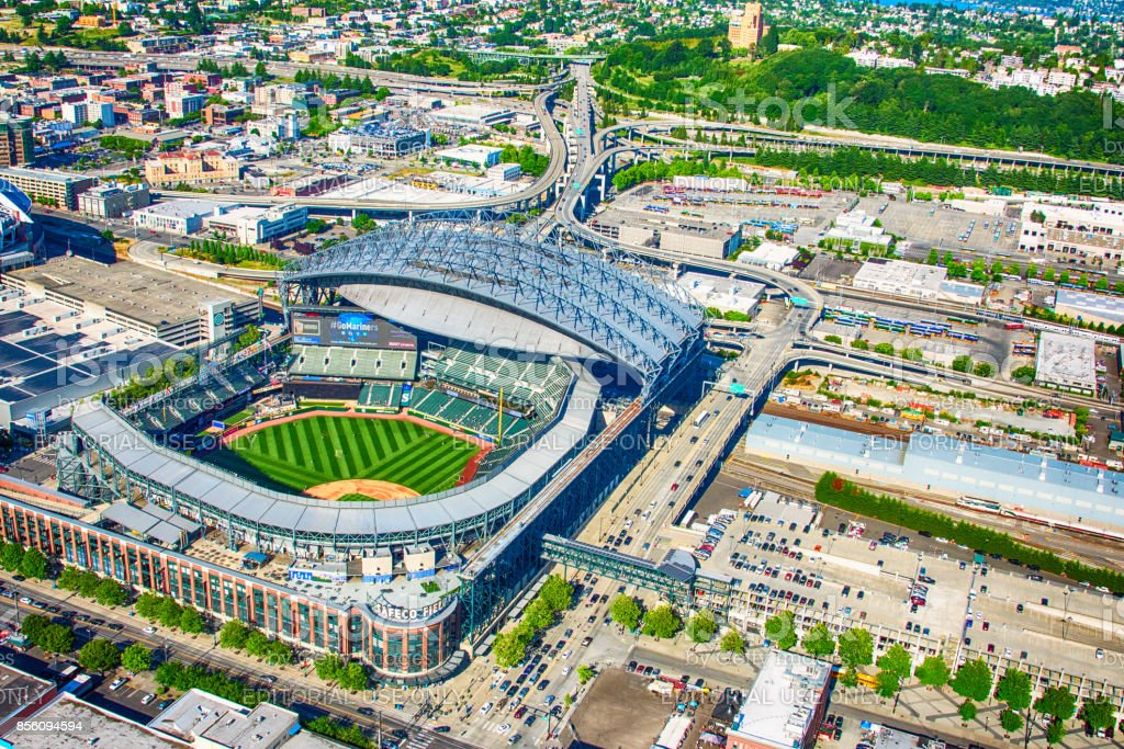 Safeco Field Aerial stock photo