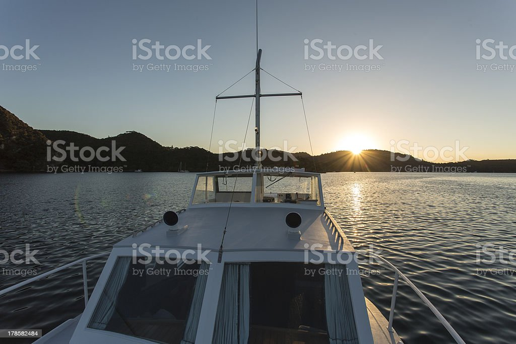 Safely Anchored Boat royalty-free stock photo