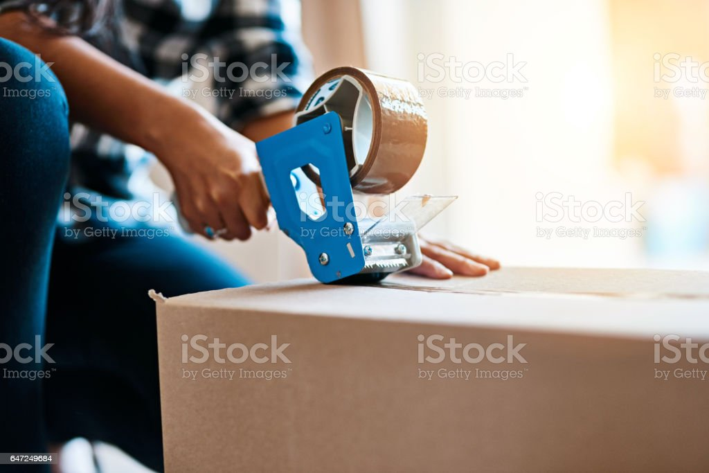 Safely packed away stock photo