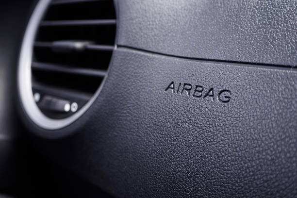 Sicherheitszeichen Airbag im Auto – Foto