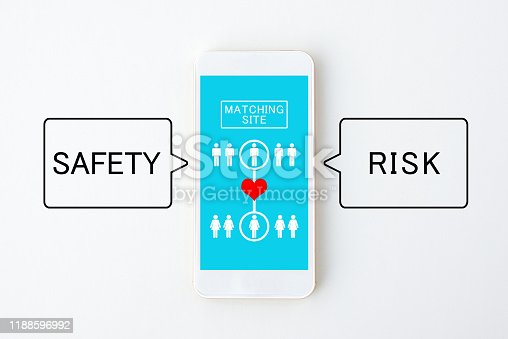 1125634019 istock photo Safety and risk by using matching application 1188596992