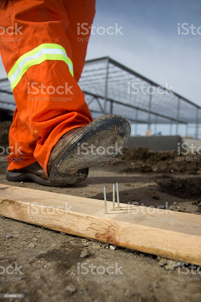 Safety at a Construction site stock photo