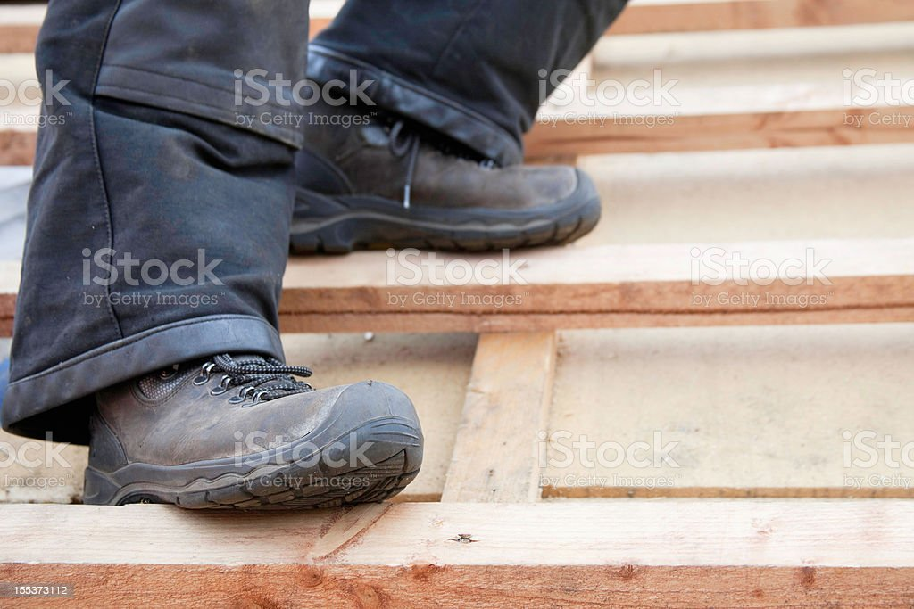 safety at construction site stock photo