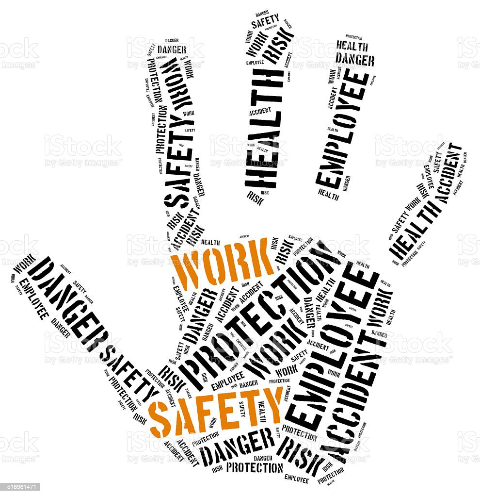 safety at work concept word cloud royaltyfree stock photo