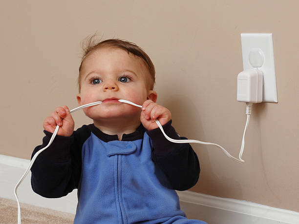 Safety Baby Cord Chew II stock photo