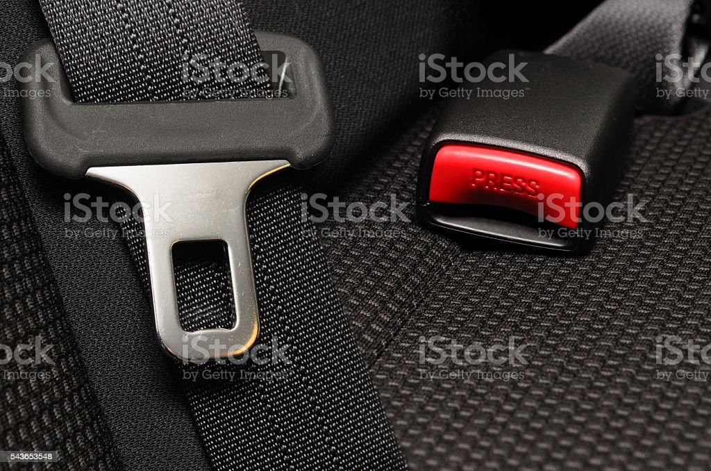 safety belt in a car stock photo