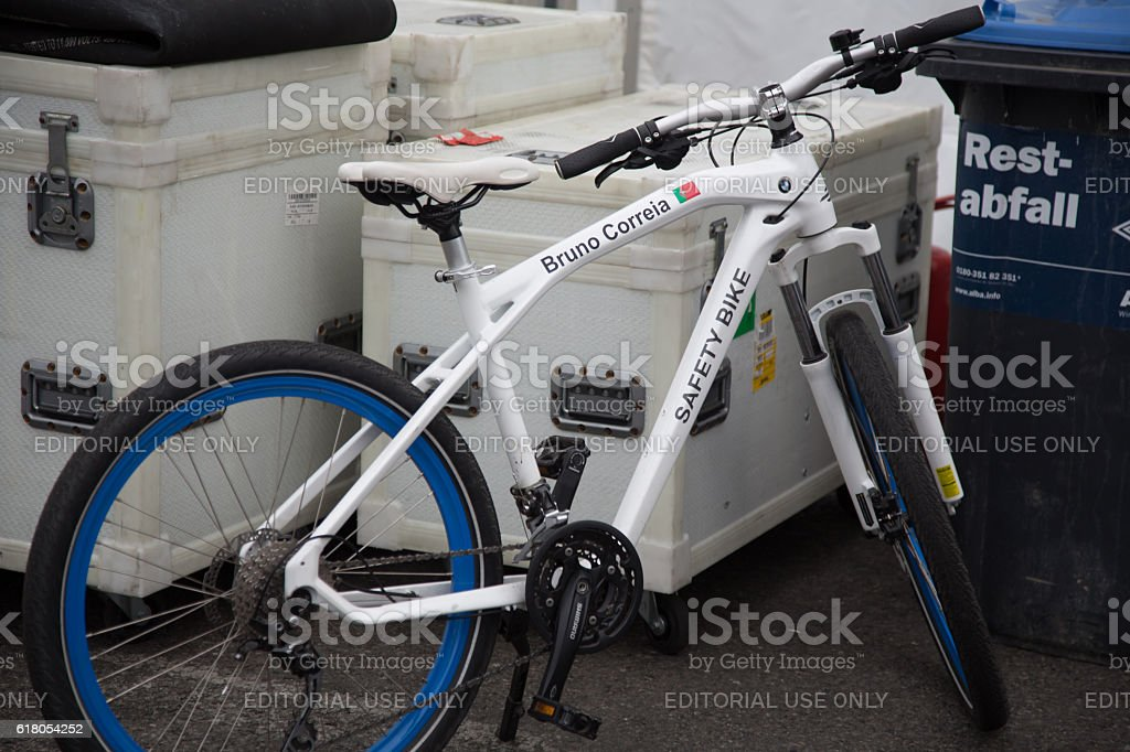 Berlin, Germany - May 20, 2016: safety bike stock photo