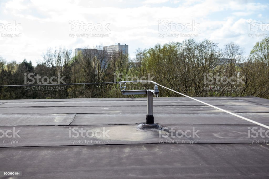 this stainless steel safety cable on the roof is for your own safety