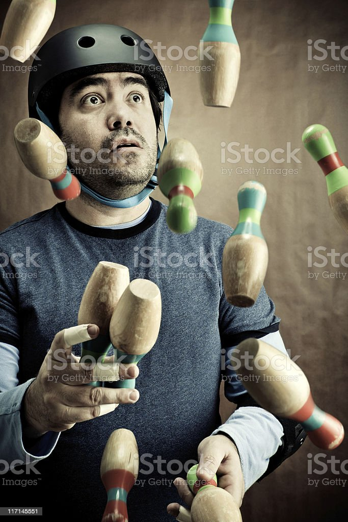 Safety Circus Practice royalty-free stock photo