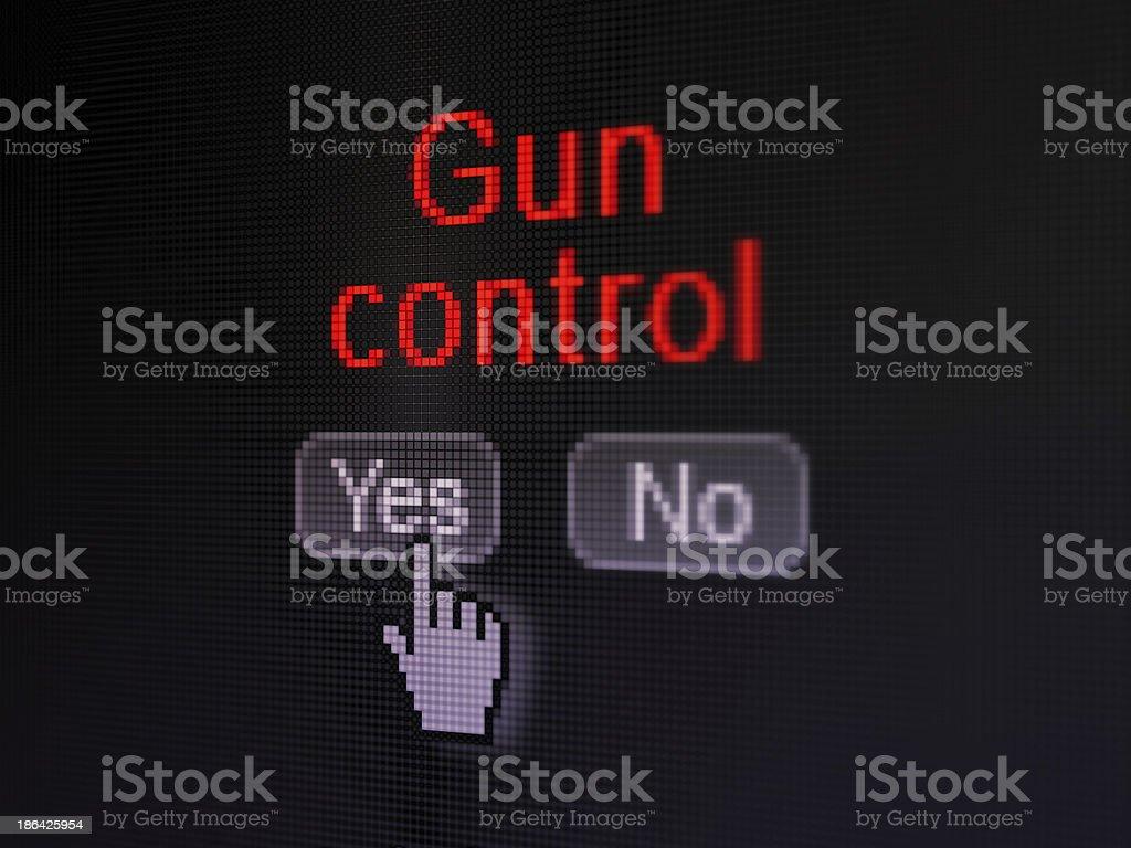 Safety concept: Gun Control on digital computer screen royalty-free stock photo