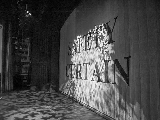 Safety Curtain stock photo