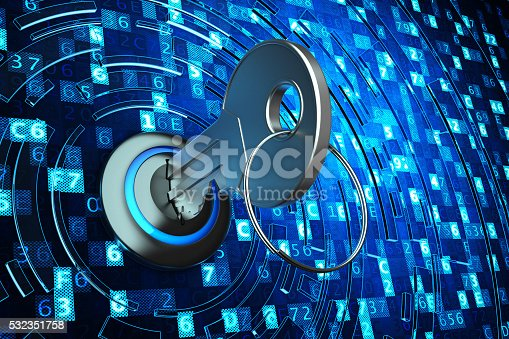 532351758 istock photo Safety data access, computer data protection and information security concept 532351758