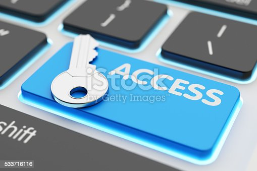 istock Safety data access, computer network security, accessibility and authorization concept 533716116