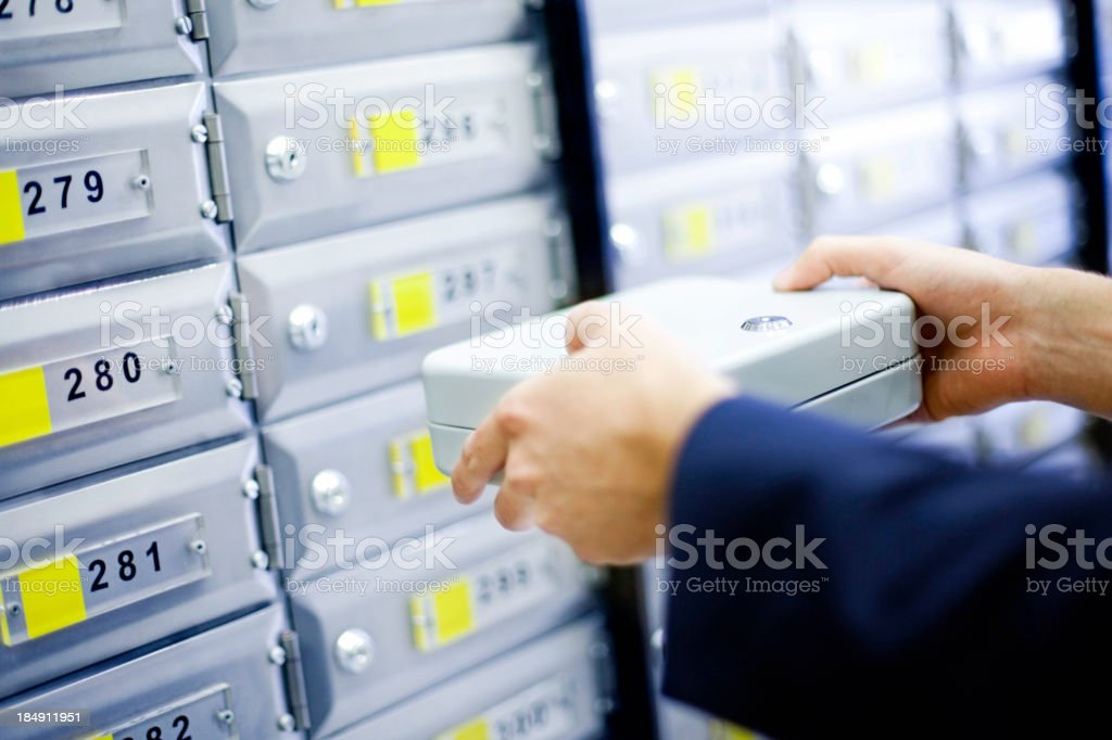 Safety deposit box stock photo