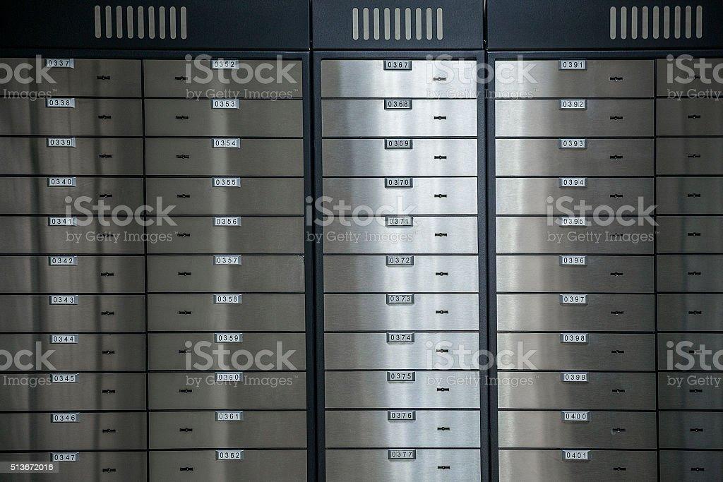 sicher mit safe-Schließfächer Lizenzfreies stock-foto