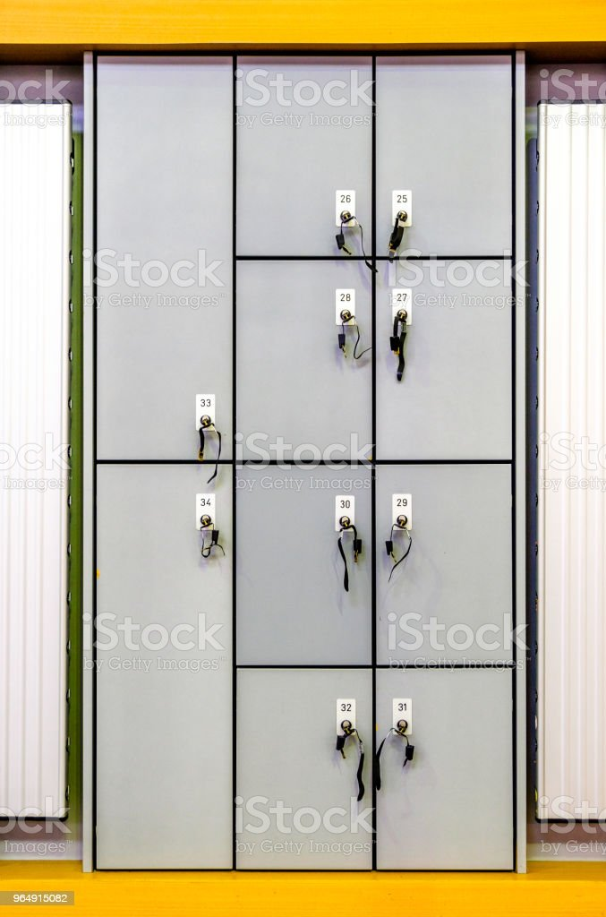 safety deposit boxes royalty-free stock photo