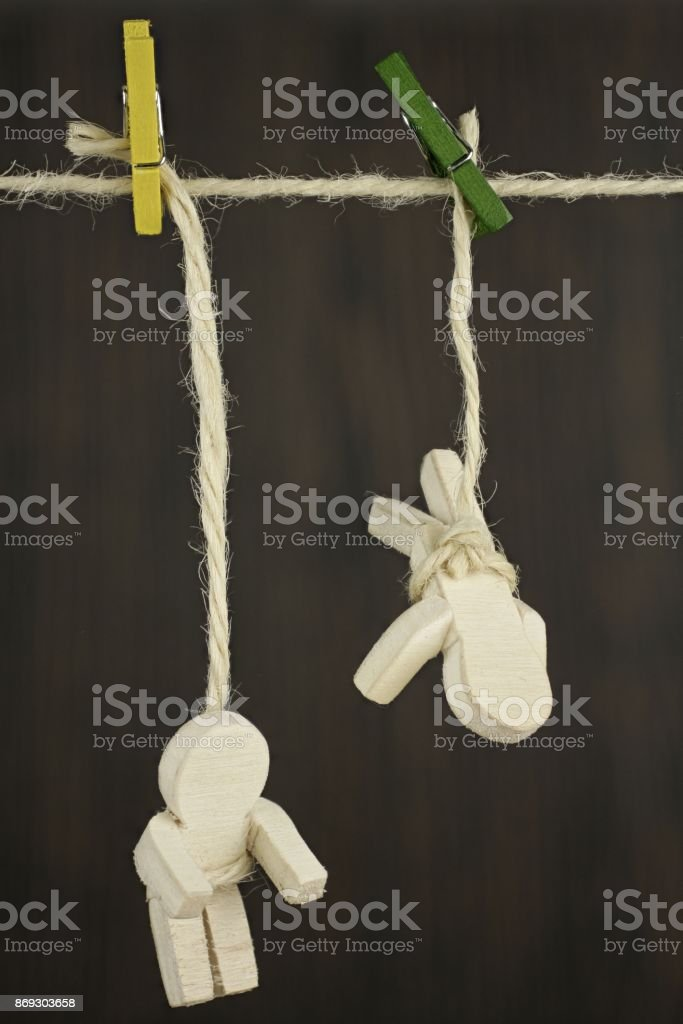 Safety during climbing stock photo