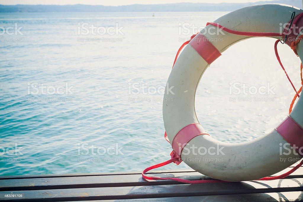 Safety Element - Life Buoy stock photo