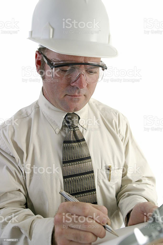 Safety Engineer Closeup royalty-free stock photo