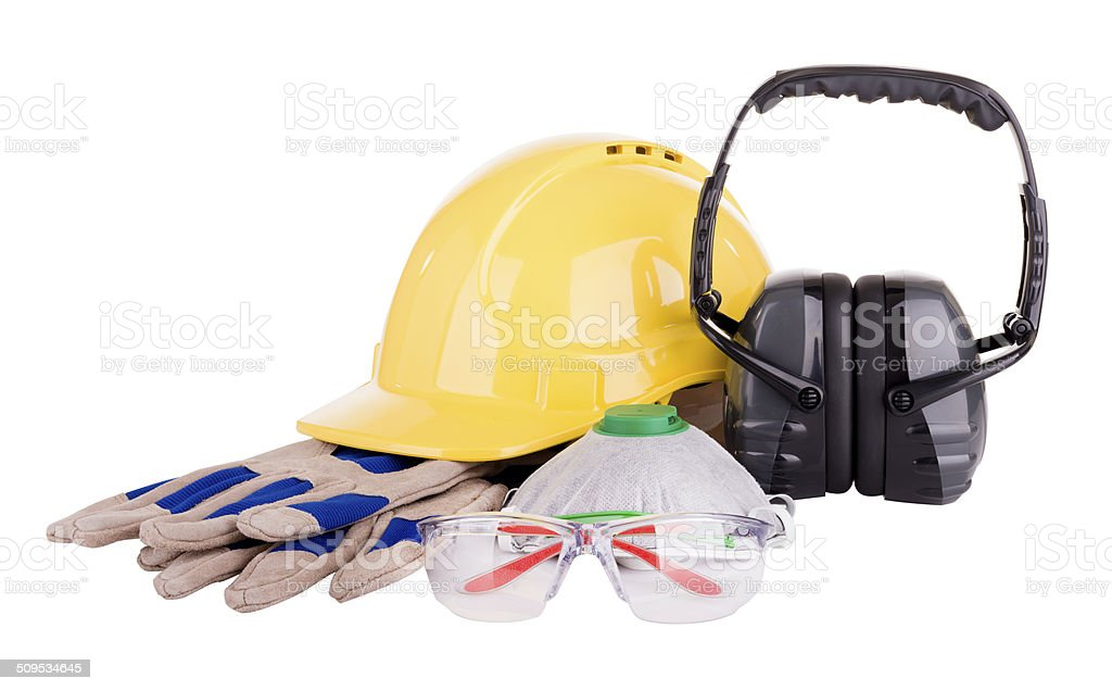 Safety Equipment Isolated stock photo