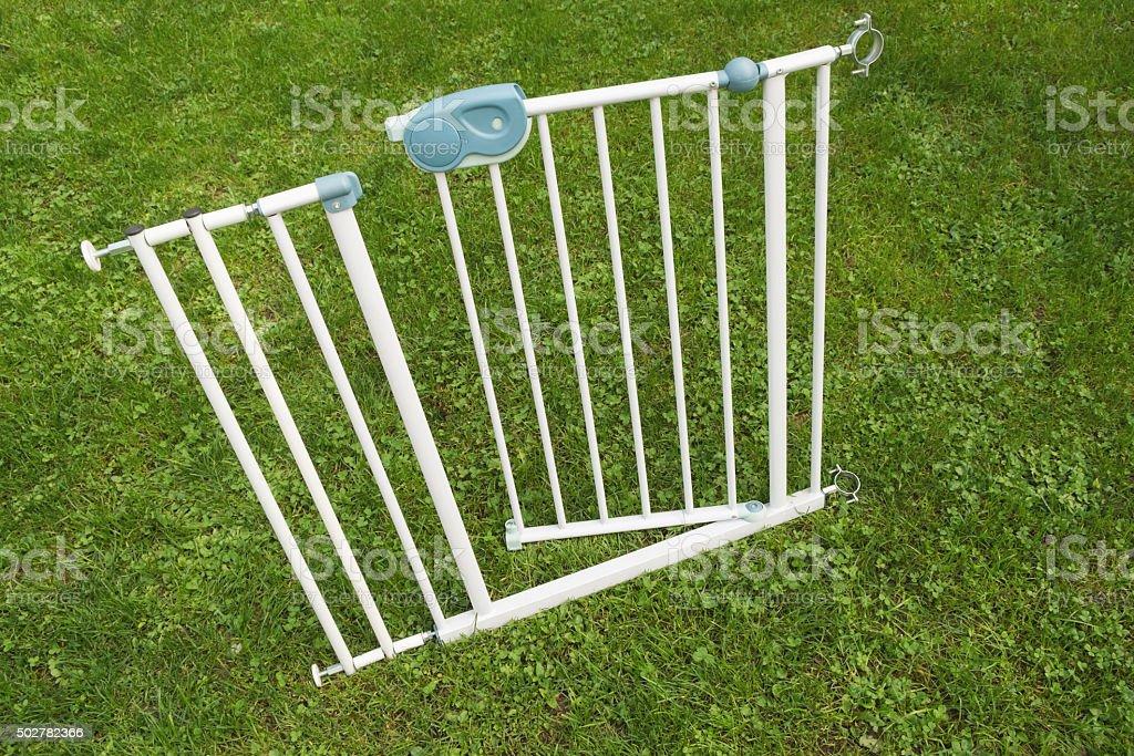 Safety fence stock photo