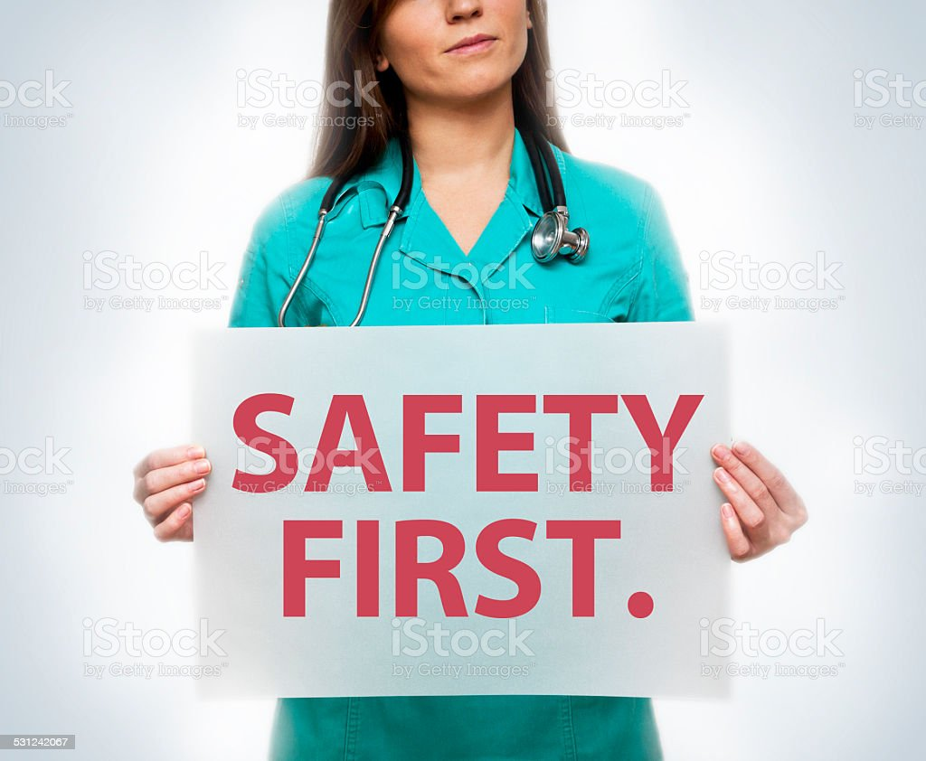 Safety first / medicine concept (Click for more) stock photo