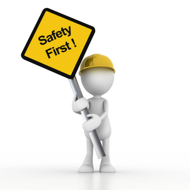 safety first - stick figure stock photos and pictures
