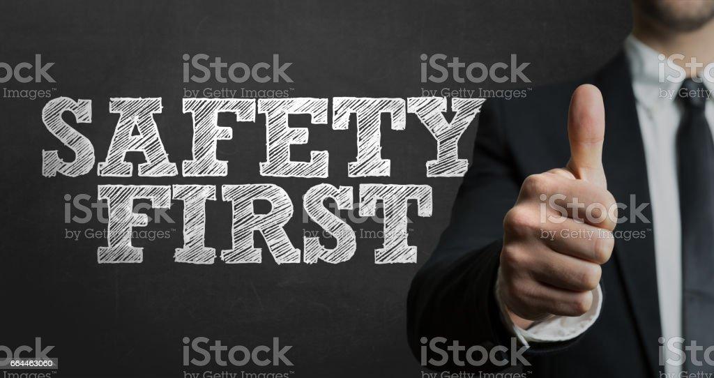 Sicherheit erste – Foto
