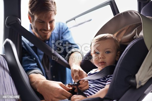 istock Safety first when your most precious gift is on board! 497260489