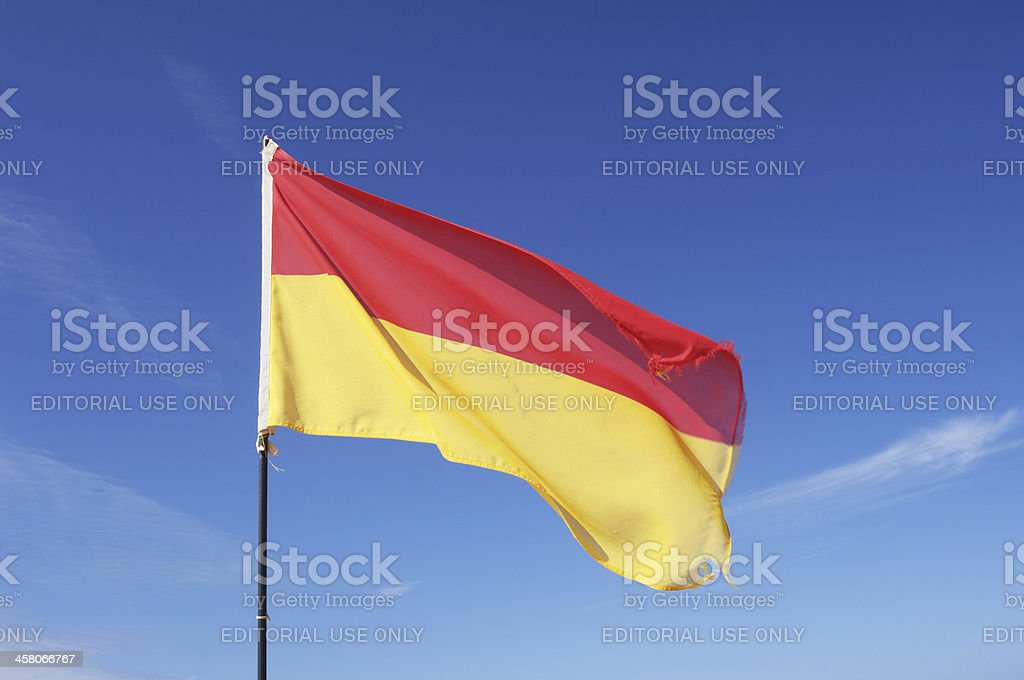 Safety Flag stock photo