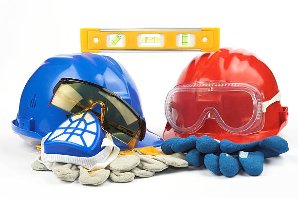 Safety gear kit stock photo