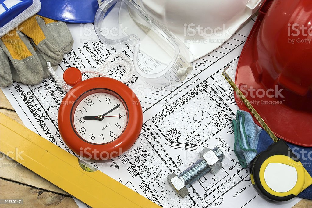 Safety gear kit royalty-free stock photo