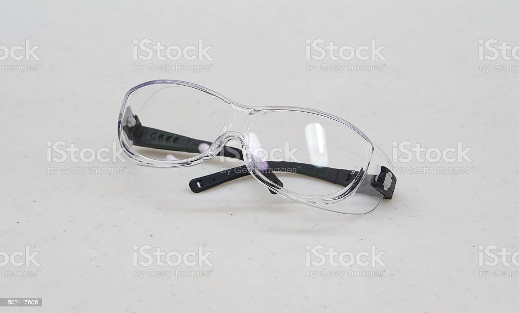 Safety glasses for personal protection stock photo