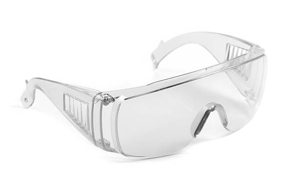 safety glasses isolated on white safety glasses isolated on white protective eyewear stock pictures, royalty-free photos & images