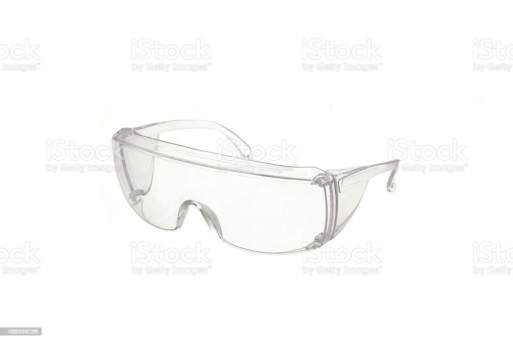 safety glasses isolated royalty-free stock photo