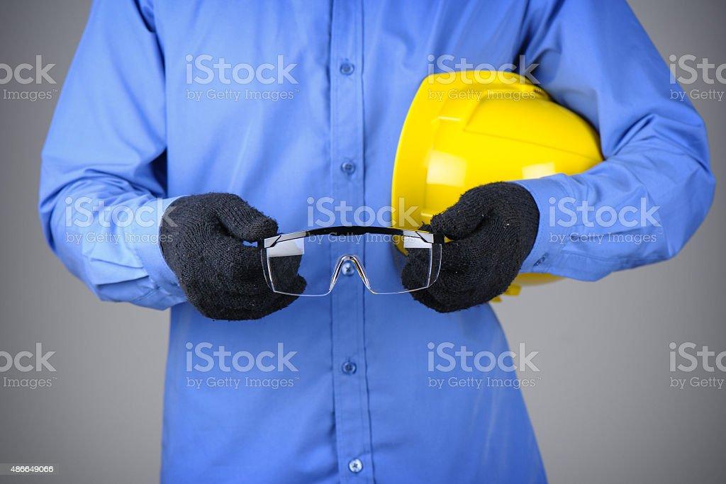 safety glasses stock photo