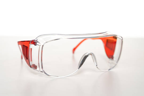 Safety glasses workwear Safety glasses workwear The scene is situated in studio environment and is taken with Sony A7III protective eyewear stock pictures, royalty-free photos & images