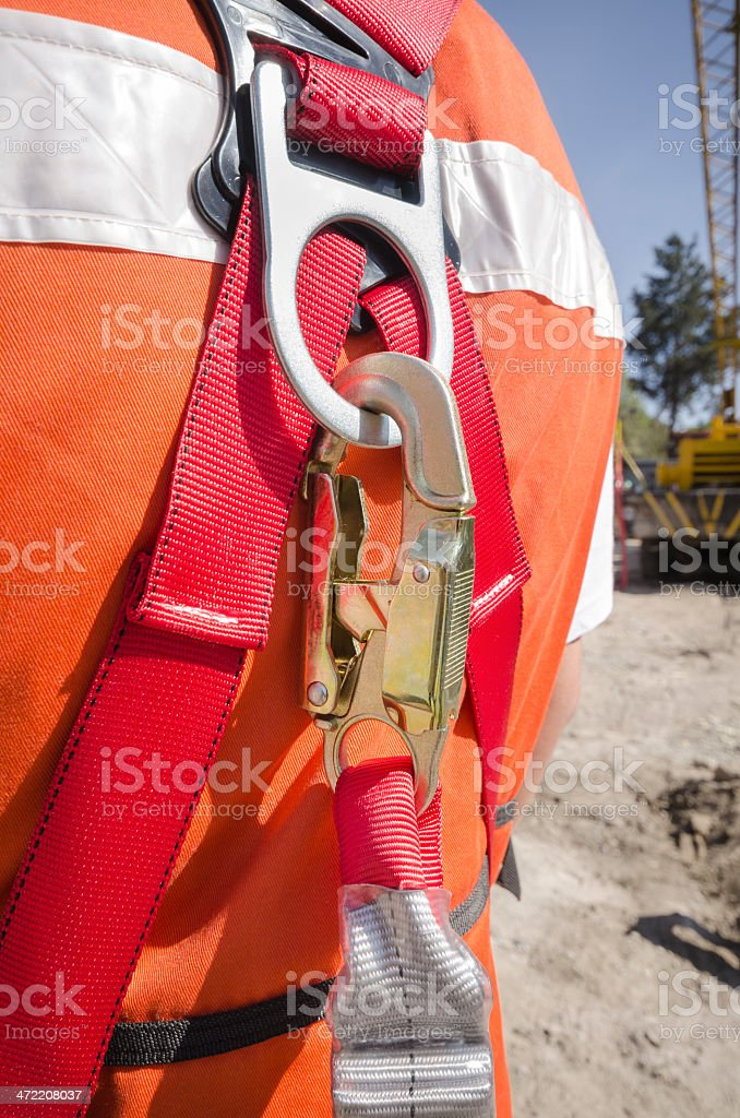 Safety harness stock photo