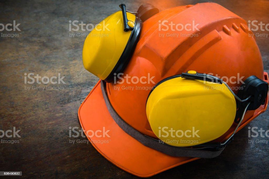 Safety helmet. stock photo