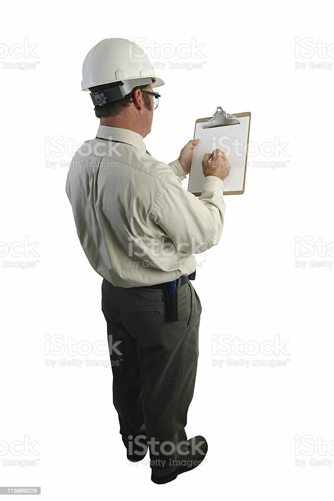 Safety Inspector Checklist royalty-free stock photo