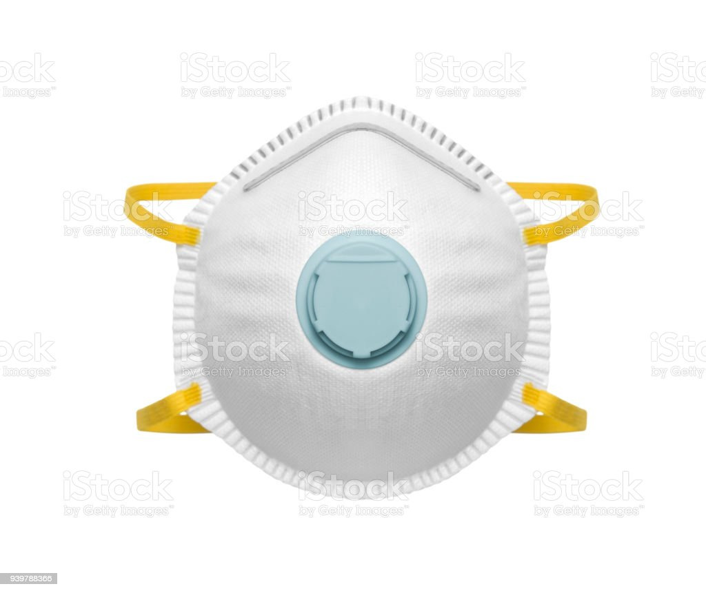 Mascarilla de seguridad para protección del polvo - foto de stock