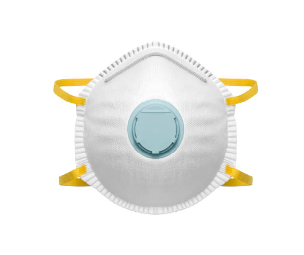 Safety mask for dust protection stock photo