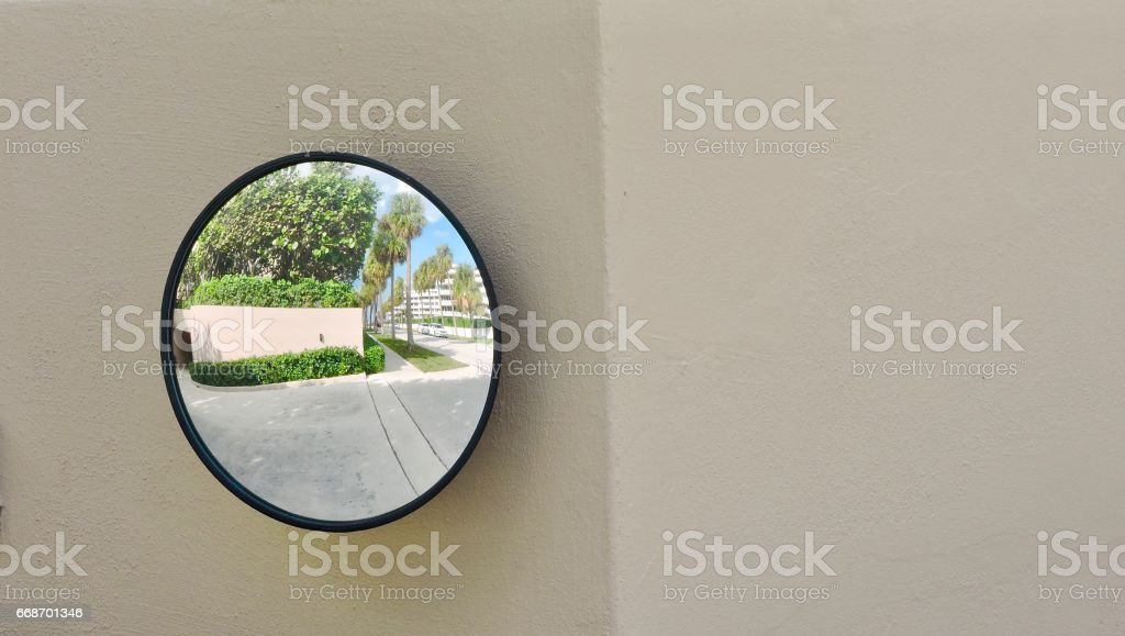 Safety Mirror stock photo