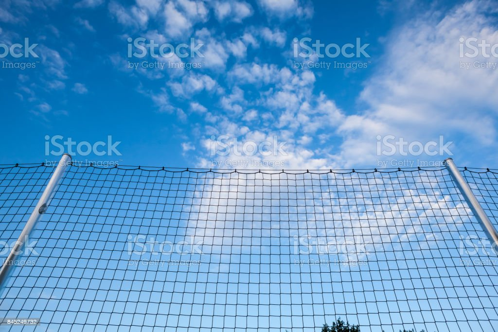 safety net for football stock photo