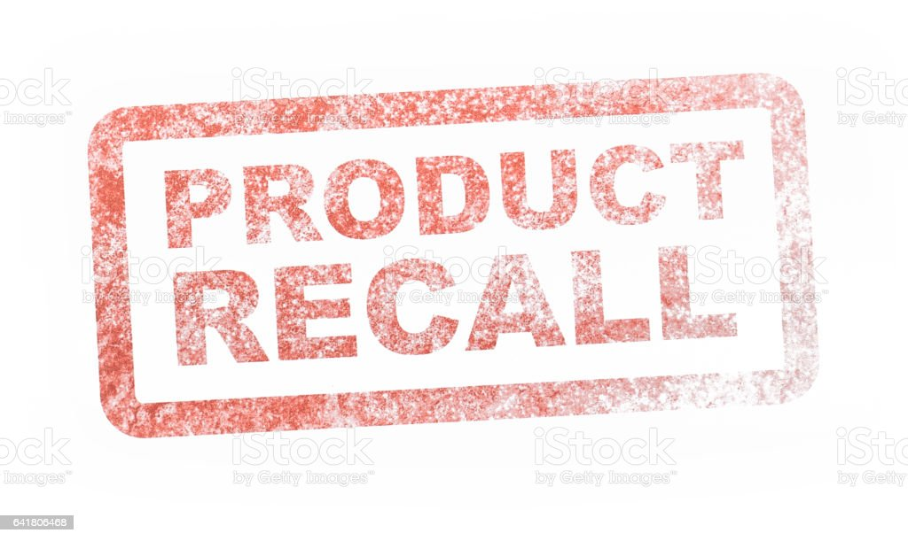 Safety Notice Recall stock photo
