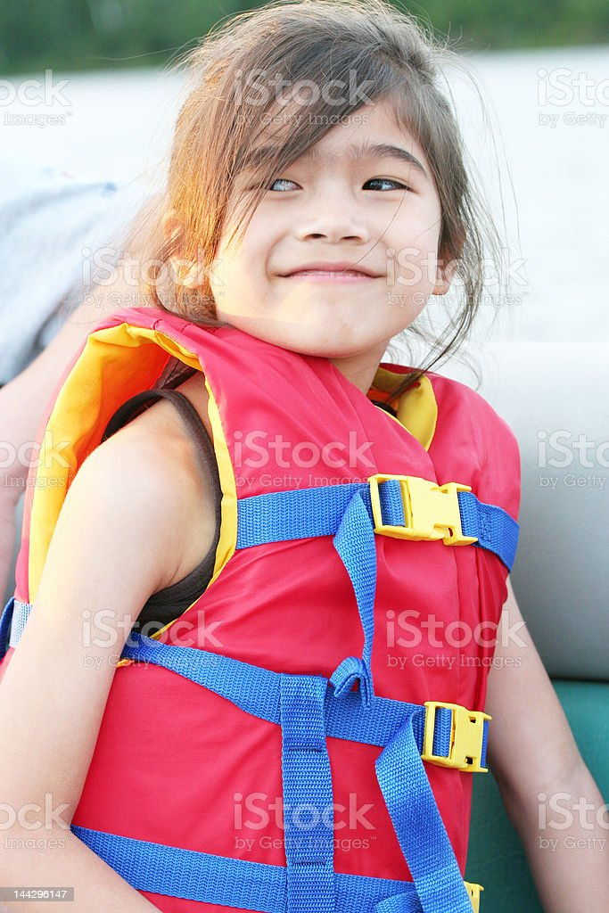 Safety on a Boat stock photo
