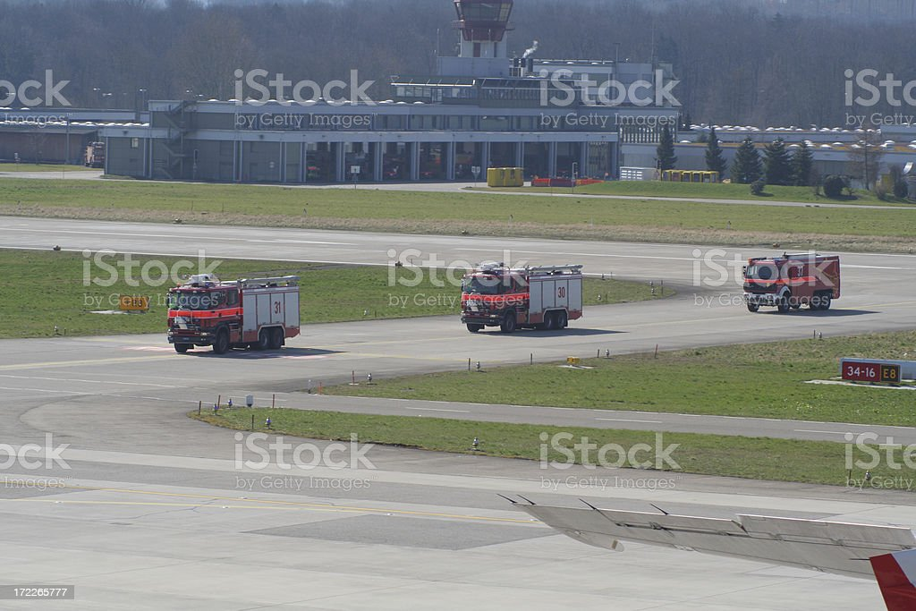 safety on airport stock photo
