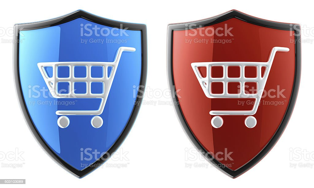 Safety Online Shopping royalty-free stock photo